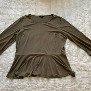 Banana Republic Olive Green Peplum Top
